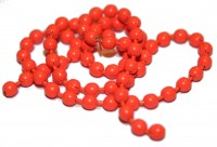 Bead Chain Eyes Medium - Fluo Orange
